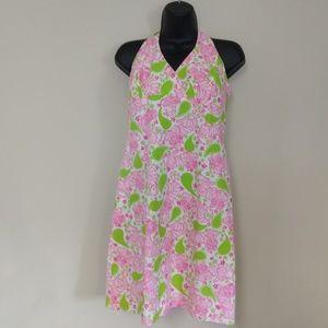 Lilly Pulitzer Blackjack Tiger Print Halter Dress
